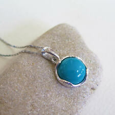 Adita UNIQUE 925 Sterling Silver Turquoise Necklace | HANDMADE Gemstone Necklace