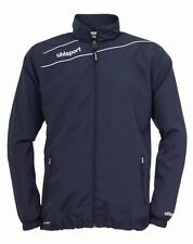 Uhlsport Mens Presentation Sports Football Breathable Zip Jacket Top Navy White
