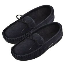 Lambland Ladies Genuine Sheepskin Suede Moccasin Slippers with Microfibre Lining