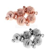 Brass Metal 8mm Strong Round Magnetic Clasps Jewelry Making Findings Bead 5 Sets