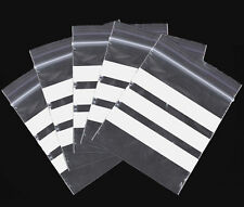 100 Qty Write on Panel  Grip Seal Resealable Polythene Bags ALL SIZES