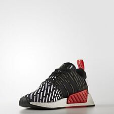2017 New Adidas NMD R2 Runner PK Primeknit Core Black White Red BB2951 SIZE 4-11