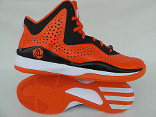 ADIDAS BASKETBALL SHOES BOOTS D ROSE 773 3 ORANGE BLACK SIZE 42 2/3