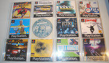 Various Playstation One (PS1) Games. Action, Fantasy, SciFi, Driving, Sports PAL
