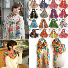 2016 Hot Fashion Long Cotton Voile Floral Shawl Scarf Wrap Stole For Girls/Lady