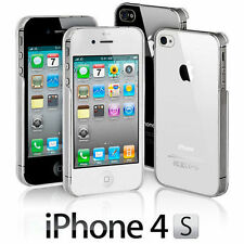 NEW STYLISH SLIM CRYSTAL CLEAR CASE COVER FOR APPLE IPHONE 4 & 4S + SCREEN GUARD
