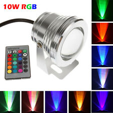 10W RGB LED Outdoor 16 Color Change Flood Spot light Garden Lamp Remote Control