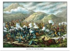 Poster Print Wall Art entitled Vintage military print featuring The Battle of