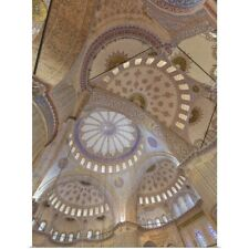 Poster Print Wall Art entitled Istanbul, Turkey, Interior of Blue Mosque