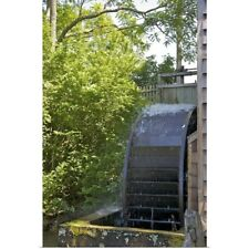 Poster Print Wall Art entitled Water wheel, Stony Brook Grist Mill