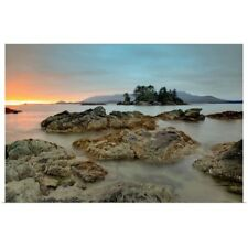 Poster Print Wall Art entitled Whaler Islet With View Towards Flores Island,