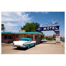 Poster Print Wall Art entitled The Blue Swallow Motel along Route 66 in