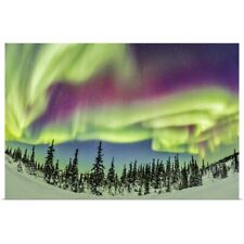 Poster Print Wall Art entitled Aurora borealis over Churchill, Manitoba, Canada