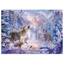 Poster Print Wall Art entitled Snow Landscape Wolves