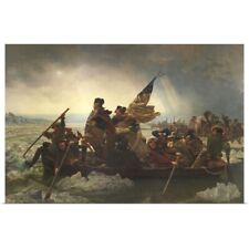 Poster Print Wall Art entitled Painting of George Washington crossing the