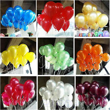 "100 10"" Latex PEARLISED Balloons baloons helium Quality Party Birthday Wedding"