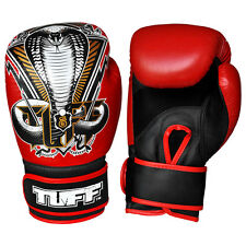 Red Cobra Thai Boxing Gloves 16 oz Leather Muay Thai Gloves MMA Kids Youth Kick