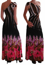 Womens Off the Shoulder Casual Maxi Long Floral Print Fashion Party Dress