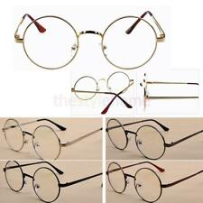 Retro Vintage Round Men Women Eyeglasses Frame Spectacles Plain Glasses Metal