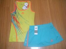 WOMENS/LADIES ADIDAS ADIZERO TENNIS OUTFIT SKIRT/SKORT & TANK TOP Sale 39.95 XS