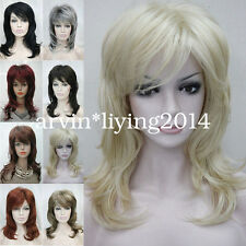 Ladies Layered Women wig Medium Long Natural hair Daily wig cosplay wigs