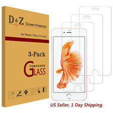 3X Premium Real Tempered Glass Screen Protector Film for Apple iPhone 6/6s/7Plus