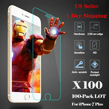 LOT 100x Wholesale Tempered Glass HD Screen Protector for Apple iPhone 7 Plus