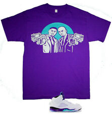 New v Purple Aqua Belly Nas DMX shirt movie jordan grape 5 air Cajmear M L XL 2X