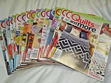 Quilts and More Magazine Premier Issue2005 - Summer 2015 include pattern inserts