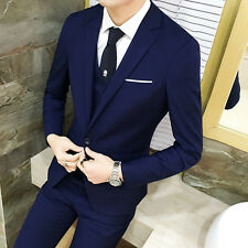 Mens One Button Slim Fit Coat Pant Wedding Suits 2Pcs Groom Formal Blazer Sets