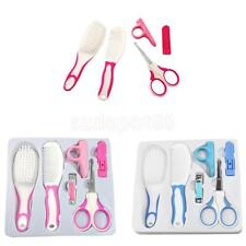 6pcs/Set Baby Grooming Manicure Set -Scissor Nail Clipper Hair Bush Hair Comb