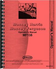Massey Ferguson 135 1964-1975 Narrow Deluxe Tractor Operators Manual