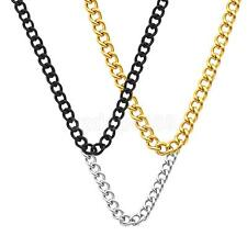 Men Stainless Steel Gold Silver Necklace Link Pendant Chain Modern Punk Necklace