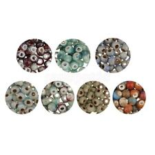 100pcs Retro Round Gemstone Loose Spacer Beads Charms for DIY Jewelry Making 6mm