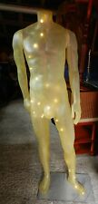 VINTAGE UNUSUAL TRANSLUCENT YELLOW MALE MANNEQUIN - LAMP - GOOD CONDITION