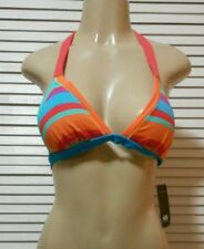 NEW! ABS ALLEN SCHWARTZ Color Block Triangle Halter Top Size 8