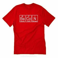 Bacon Elements T-shirt Funny Bacon Lover  Meat Food Fun BBQ Pig Tee Size S-5X