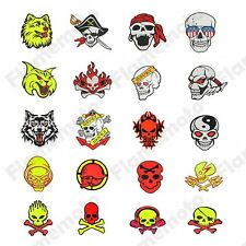 Universal Motorcycle Motocross ATV Racing Bike Skull Crossbones Sticker Decals