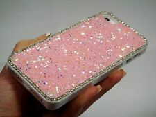 Pink Crystals Rhinestones Glitter Sparkle Gem Jewelled Bling Phone Case Cover
