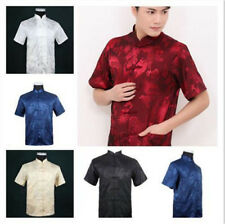 Chinese Traditional Style Men's Summer.Casual Kung Fu Shirt Tops M/L/XL/XXL/3XL
