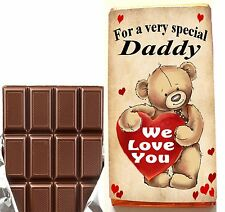 Birthday Gift For Him, Chocolate Bar or Wrapper, For Dad Daddy Grandad Uncle