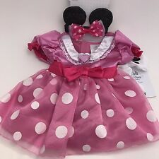 Disney Store Minnie Mouse Baby Deluxe Costume Pink Dress Gloves Headband EARS