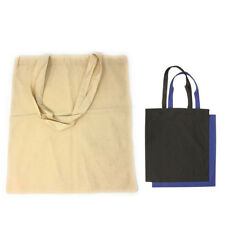 60 LOT Cotton Reusable Grocery Blank Shopping Tote Totes Bag Bags WHOLESALE BULK