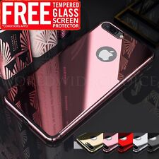 For Apple iPhone 7 Plus Tempered Glass 6 6s Case Slim Hard Back Mirror Cover NEW