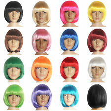 Fashion Women Full Wig Short Straight Boho Hair Cosplay Comic Hairpiece 15 Color