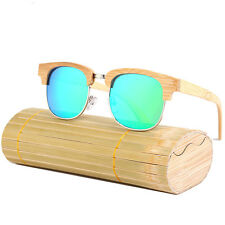 Luxury Mens Womens Wooden Bamboo Sunglasses Polarized Outdoor Style Eyewear