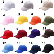 Plain Solid Washed Cotton Polo-Style Baseball Ball Cap New Adjustable Caps Hat