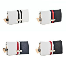 Womens Ladies Leather Wallet Envelop Purse Long Card Button Clutch Handbag Bag