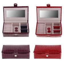 Portable PU Leather Travel Jewelry Box Rings Earrings Organizer Storage Case