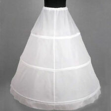 White Black 3-HOOP Ball Gown BONE FULL CRINOLINE PETTICOAT WEDDING SKIRT SLIP